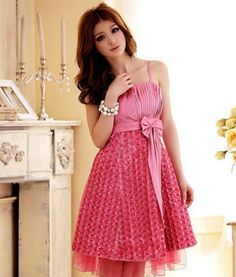 Very beautiful spaghetti strap dress with floral roses! $29.99