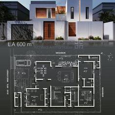 Home Design Plans, Plan Design, Model House Plan, House Plans, Small House Design, Facade Design, Facade House, Architecture Plan, Architect Design