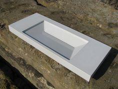 Yuma Concrete Basin by Concrete Works Bermuda - Artisan Concrete. Concrete Basin, Concrete Planters, Vessel Sink, Sinks, Artisan, Ideas, Sink, Sink Units, Concrete Pool