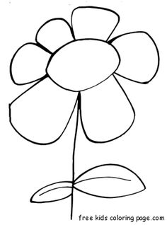 daisy flower coloring pages kids printable Theme Flower Art