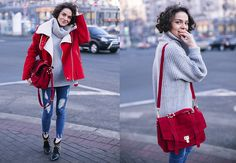 Margarita Muradova - Bag, Sweater, Coat - Little Red Riding Hood.