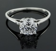 BRAND NEW 2.00 CARAT D/VVS1 ROUND CUT SOLITAIRE ENGAGEMENT RING R920 #AffinityJewelry #Solitaire