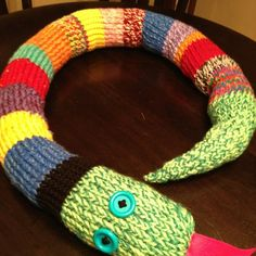 Loom knit snake for my grandson