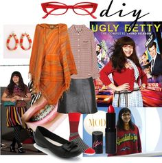 """Ugly Betty DiY"" by kasia-liszka ❤ liked on Polyvore"