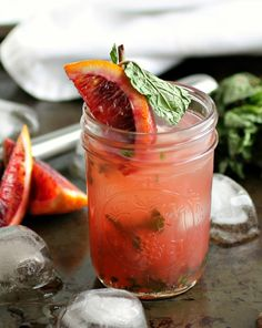 Blood Orange Mint Gimlet