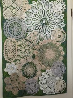 Doilies quoted wall art