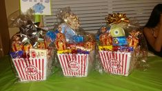 Diaper raffle prizes. Movie tickets, popcorn, and candy!                                                                                                                                                                                 More