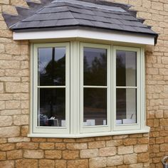 Magnet Trade timber windows have an unrivalled reputation in the trade. Grey Windows, Porch Windows, Front Doors With Windows, Timber Windows, Wooden Windows, Casement Windows, Bow Windows, Bay Window Exterior, Country Home Exteriors
