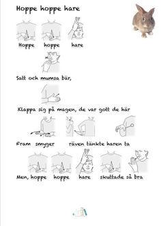 Hoppe hoppe hare | Tecken som stöd | Bloglovin' Mini Craft, Kids Songs, Sign Language, Special Needs, Special Education, Kindergarten, Singing, Preschool, Teacher
