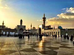 Imam Reza Holy Shrine | حرم مطهر امام رضا - Mashhad, Khorasan Razavi Imam Reza, Persian Architecture, Beautiful Quran Quotes, Bts Aesthetic Pictures, Mood Pics, Mosque, Iran, Four Square, Taj Mahal