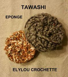 Enfin, le Tawashi est arrivée dans ma fabrication… J'ai testé pour vous 3 techniques de réalisation au crochet…Nous avons une simple mais qui ne donne pas le rendu torsadé que l&r…