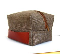 ff54bd532c6 Dopp Kit, Toiletry Bag, Wool, Denim, Mens Fashion, Etsy, Leather, Travel,  Bags