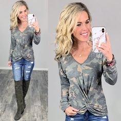 Affordable Stylish Camo Top Comfy and Easy for staying home or going out! #streetstyle #cozy #casualstyle #ootdfashion #style #ootd #fallfashion #flannel #blogger #travel #vacationstyle #fashionlover #fashionblogger #summerstyle #boutiquefashion #womensfashionoutfit #falloutfit #dress #layeringdress #casualstyle #casualfashion #joggers #comfyoutfit #kimono #springfashion #homefashion #summervibes #womensfashion #onlineshopping #onlineboutique Ootd Fashion, Fashion Boutique, Spring Fashion, Autumn Fashion, Womens Fashion, Chelsea Marie, Camo Top, Vacation Style, Comfy Casual