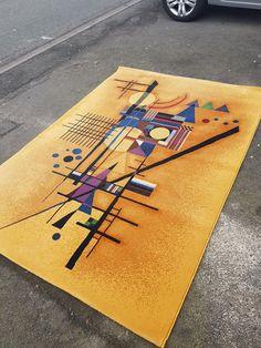 Tapis dans le goût de V.Kandinsky une véritable oeuvre d'art sur tapis