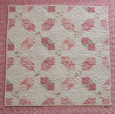 Snowball and 9-Patch Pink and White Baby Girl Quilt by AuntieEmsCrafts, $95.00