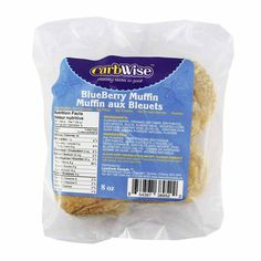 CarbWise - Muffin - Blueberry - 4 Muffins - Low Carb Canada - 1