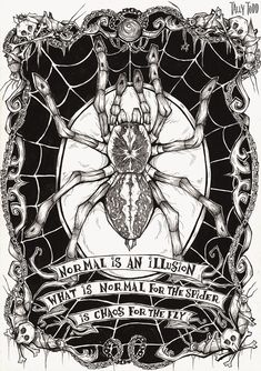 Translated version of test.txtKaamelott Tome The Giant Snake From Shadow Lake it was written by .- Kaamelott Volume T Charles Addams, Spider Art, Spider Drawing, Macabre Art, Creepy Art, Gothic Art, Horror Art, Dark Art, Art Inspo