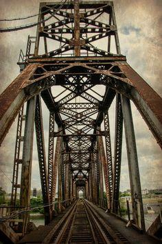 Old Rusty Railroad Train Tracks Bridge Nashville Tennessee Rail Steel Fine Art…