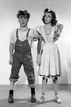 Mickey Rooney and Judy Garland in Babes On Broadway (1941)