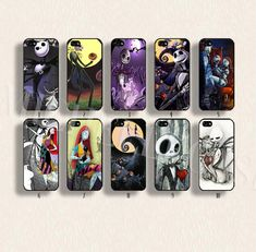 Jack Skellington phone case The Nightmare Before Christmas case  for iPhone 4/4s 5/5s/5c Galaxy s3 s4 s5 Hard plastic and soft Rubber on Etsy, $9.99
