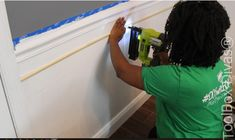 How to Install Picture Frame Moulding Wainscoting - ToolBox Divas Picture Frame Wainscoting, Wainscoting Height, Black Wainscoting, Wainscoting Nursery, Wainscoting Kitchen, Painted Wainscoting, Dining Room Wainscoting, Picture Frame Molding, Picture Frames