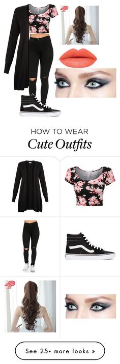"""""""Cute girly floral outfit"""" by atalialove on Polyvore featuring Vans, Monsoon, Pin Show, women's clothing, women, female, woman, misses and juniors"""