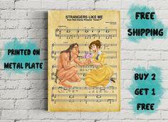 Disney Tarzan Strangers Like Me Music Art Metal Print-Tarzan Walt Disney Pictures, Tarzan, Disney Art, My Music, Like Me, Handmade Gifts, Metal, Prints, Poster