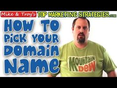 Whether you're just getting started online or expanding into a new venture, picking a domain name is crucial. A great name can help all of your marketing efforts and perhaps even your rankings.