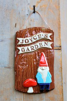 CustomMade Garden Gnome Plaque  4 to 6 Weeks for by tashamckelvey, $85.00