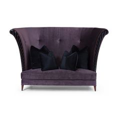 Curved furniture and Ultra Violet Trends; Christopher Guy: Lagerfeld #InteriorDesign #DesignTrends #FurnitureTrends #JewelTones #UltraViolet #CurvedFurniture