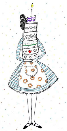Party | Feest | Taart | #Pie | #illustration #illustratie