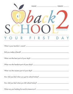 I Dig Pinterest: Fun First Day of School Traditions.   Free printables for DIY family keepsakes & traditions.