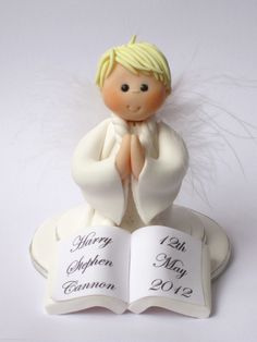 Confirmation/Holy Communion Cake Topper Boy Angel