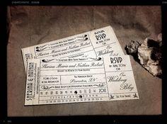 Vintage Train Ticket Invitations by Colliaris on Etsy, $2.00