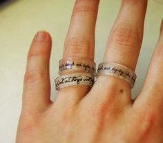 look! they're verses!:p     Personalized Shrinky Dink Ring by TwentyThirtyFive on Etsy, $6.00