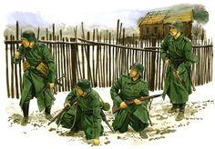 Russia 1941 Tyske soldater udenfor Moskva porte