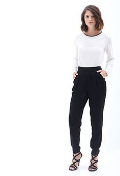 Mmmm or like this one! Pleated Zip-Front Trousers | FOREVER21 - 2056057901