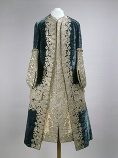 1727-1730 French Coat and waistcoat worn by Tsar Peter II at the Moscow Kremlin Museums -