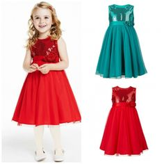 Girls Stunning Sparkly Occasion Party Sequin Summer Autumn Christmas Dress. Girls Stunning Sparkly Occasion Party Sequin Birthday Dress Perfect for weddings, birthdays, parties and other special occasions. Put this dress on your daughter and she will be transformed into a complete princess with sparkles. Suitable for summer, spring and autumn. Colour: Red and Blue Hand wash recommended 100% customer satisfaction guaranteed. Buy with confidence
