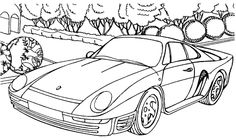 Acura Racing Car Coloring Page - Acura car coloring pages