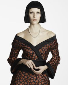 You're having your ikebana club over for some flower arranging. Think kimono with a twist.Juliana Schurig in a L'Wren Scott dress, Carolee necklaceL'Wren Scott black-and-red kimono minidress, $3,450shopbop.comCarolee white pearl necklace with silver-tone clasp, $45For information: lordandtaylor.com