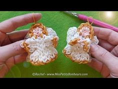 Angel Elastic Rainbow Loom - Tutorial by Rachel. She makes such cute charms. All the Christmas ones are awesome.