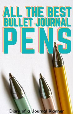 These are the best pens ever to use when bullet journaling! All of these are tried and tested to be sure they won't smudge or bleed through pages! #pens #stationery #bulletjournalpens #bulletjournalsupplies Best Bullet Journal Pens, Bullet Journal Printables, Bullet Journal How To Start A, Bullet Journals, Bujo, Day Planner Organization, Bullet Journal Inspiration, Journal Ideas, Stationary Supplies