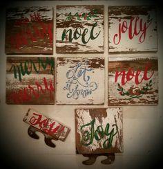Signs on salvage Christmas