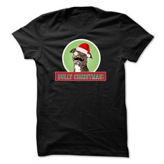 All pit bull owners will have a Bully Christmas! Get this awesome and proper pit bull BULLY shirt or hoodie today!