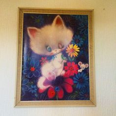 It's almost the weekend!  #buckleandfawn #kitsch #kitschhome #kitschkitty #kitschkitten #psychedelic #60s #onthewall #wallart #retro #retrohome #vintage #vintagehome #70s #cats #catsofinstagram #cutecats