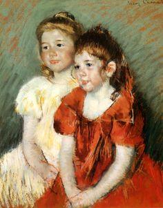 Young girls by Mary Cassatt