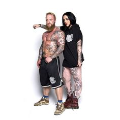 """Monogram"" Basketball Shorts & CRMC X @miri_arake ""Cada Dia Mas"" Sleeveless Hood at www.crmc-clothing.co.uk | WE SHIP WORLDWIDE  Part of our Pre-Drop SALE  Model - @loco.mike.mason & @stellatequila Photography by @drplad #muscle #shredded #ripped #tattoowomen #bodybuilder #bodybuilding #wrestler #wrestling #dark #alternativeboy #clothing #girlswithtattoos #instagood #hot #basketballshorts #instafashion #sale #beardedgents #beard #menwithbeards #love #basketball #spanishtattooartist"