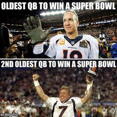 and both were playing for the Broncos~ Denver Broncos Football, Go Broncos, Football Love, Broncos Fans, Best Football Team, Sport Football, Pittsburgh Steelers, Football Players, Baseball