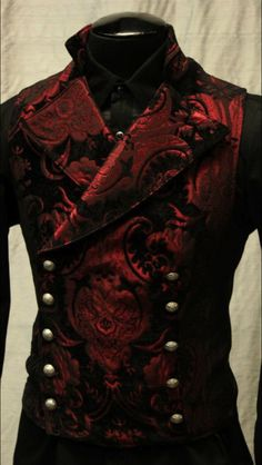 Shrine Gothic Vampire Cavalier Vest Jacket Victorian Tapestry Goth Steampunk for sale online Gothic Men, Gothic Steampunk, Steampunk Clothing, Steampunk Fashion, Steampunk Vest, Victorian Gothic Fashion, Gothic Beauty, Victorian Mens Clothing, Victorian Vampire